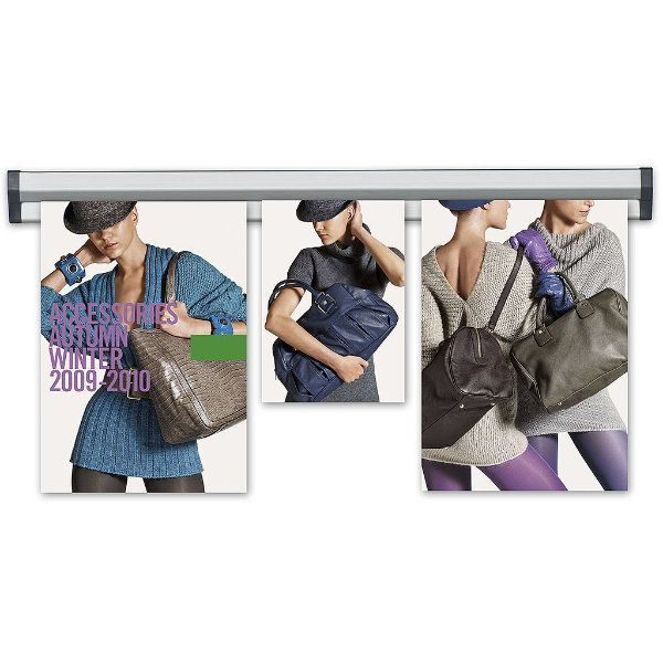 "Fast Note 12"" Poster Width Silver Anodized Aluminum"