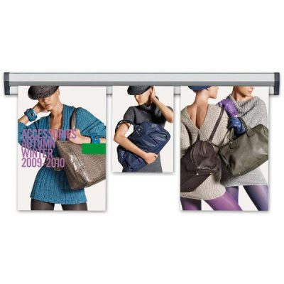 """Fast Note 24"""" Poster Width Silver Anodized Aluminum"""