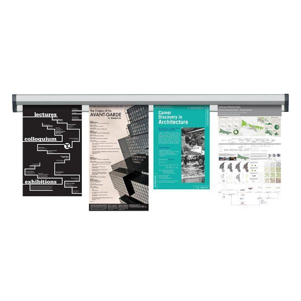 """Fast Note 36"""" Poster Width Silver Anodized Aluminum"""