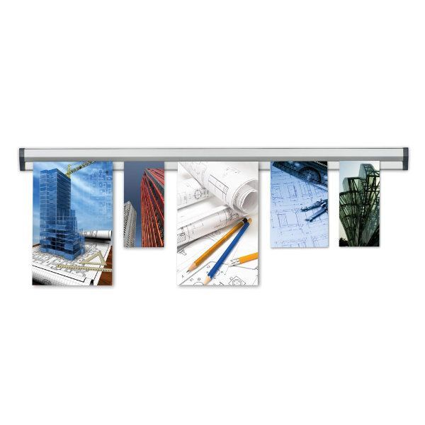 """Fast Note 40"""" Poster Width Silver Anodized Aluminum"""