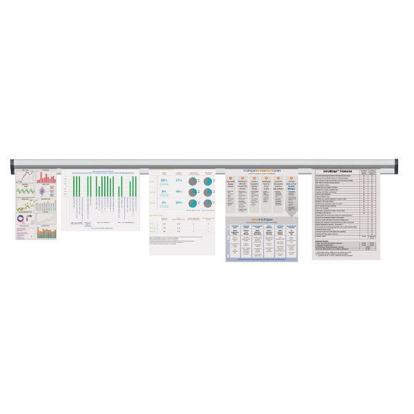 """Fast Note 60"""" Poster Width Silver Anodized Aluminum"""