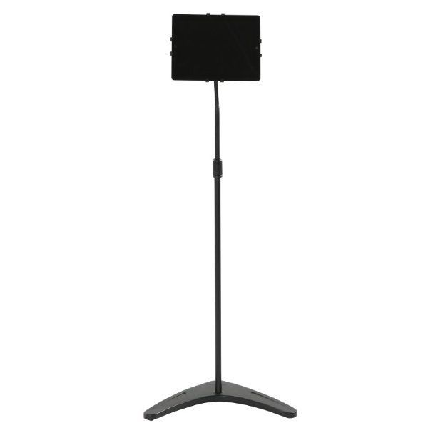 Floor Stand Holder for iPad & Tablet PC Black