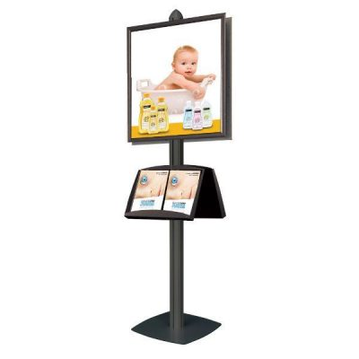 Free Standing with Frames Displays Double Sided Black (4 Channels)
