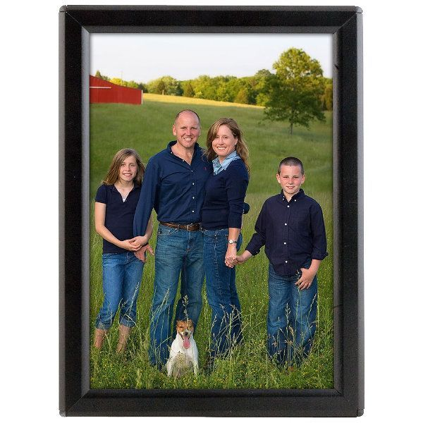 """Opti Frame 5"""" x 7"""" 0.55"""" Black Mitered Profile With Back Support"""