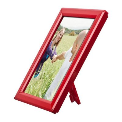 "Opti Frame 5"" x 7"" 0.55"" Red Mitered Profile, With Back Support"