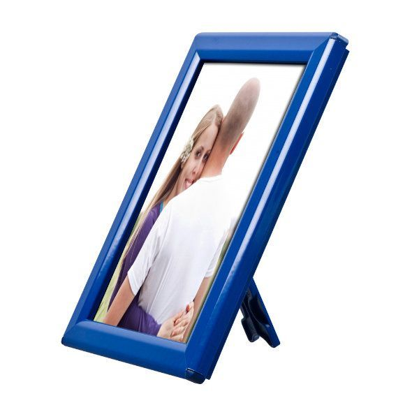 """Opti Frame 5"""" x 7"""" 0,55"""" Blue Mitred Profile With Back Support"""