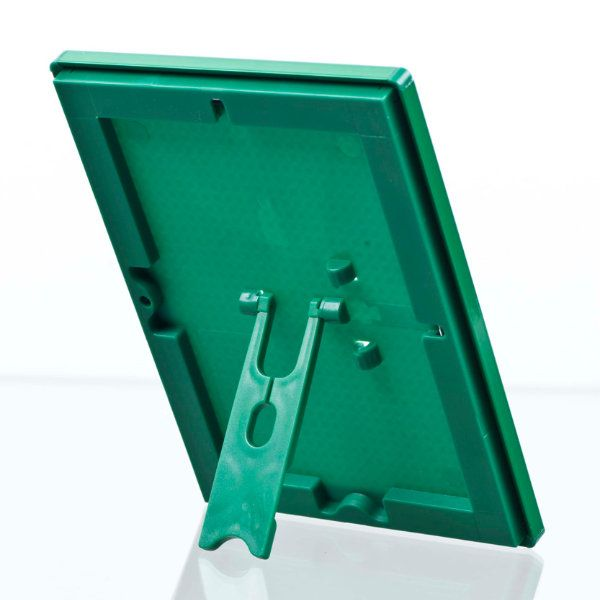 """Opti Frame 5"""" x 7"""" 0,55"""" Green Mitred Profile, With Back Support"""