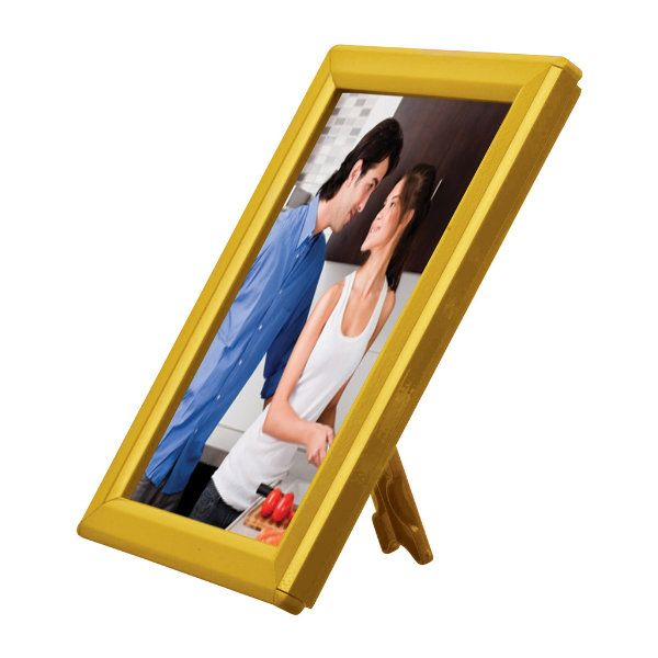 """Opti Frame 5"""" x 7"""" 0,55"""" Yellow Mitred Profile With Back Support"""
