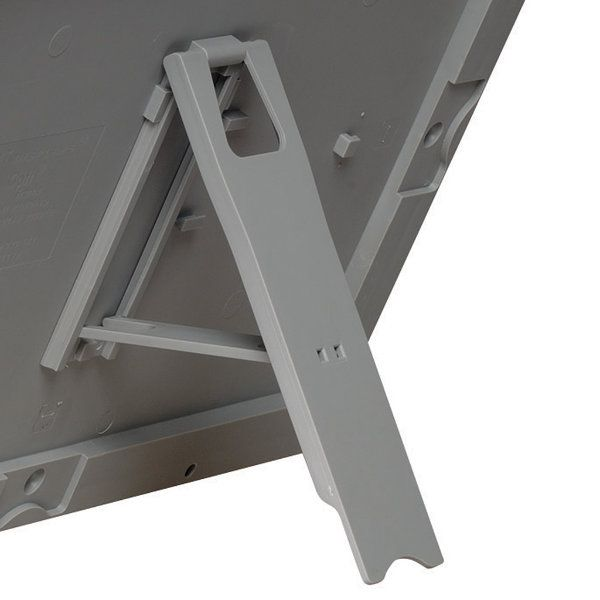 """Opti Frame 8.5"""" x 11"""" 1"""" Silver Mitred Profile With Back Support"""