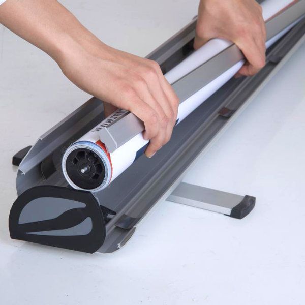 """Optima Roll Up Banner 31- 1/2"""" x 78- 3/4"""""""