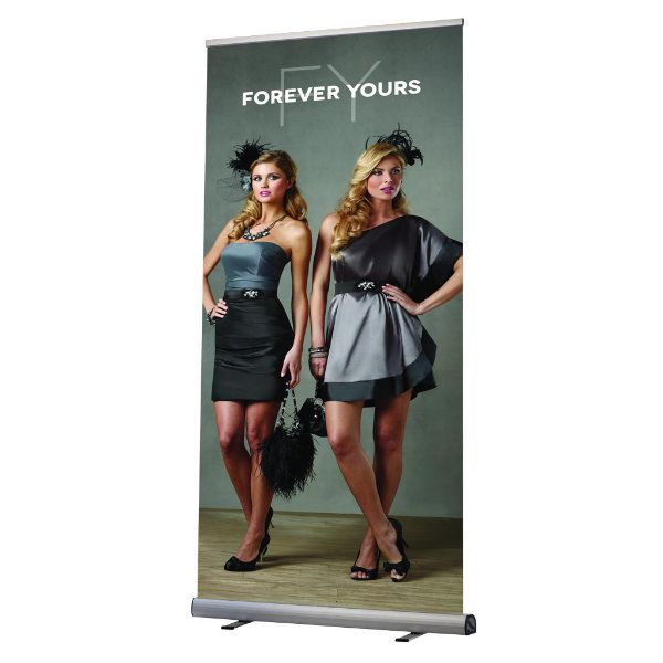 "Optima Roll Up Banner 39- 3/8"" x 78- 3/4"""