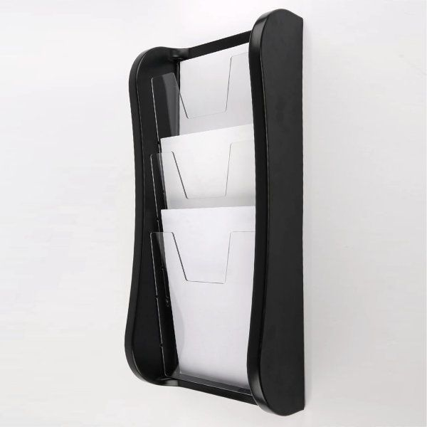 "Prime Wall Unit 3 Tiers, for 8.5"" X 11"" Graphics Black"