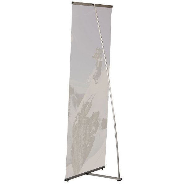 """Quick Banner 39 4/10"""" x 78 3/4"""" Silver Anodized Aluminum"""