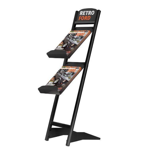 """Rapid Brochure Set 2 Tiers For 8.5"""" x 11"""" Brochures Black"""