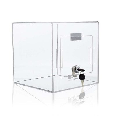 "Tumble Box 8""w x 8""h x 8""d Clear"