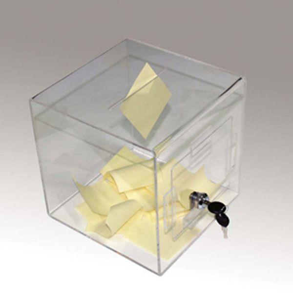 "Tumble Box 8""w x 8""h x 8""d Clear"