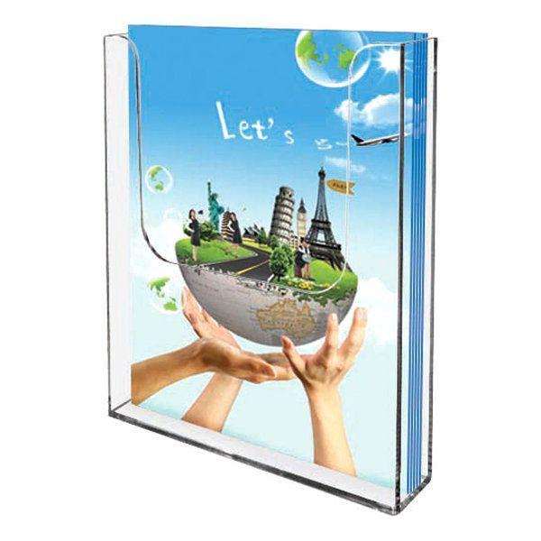 "Wall Mount Brochure Holder 5.5""w x 8.5""h 1 Pocket, Wall Mount"