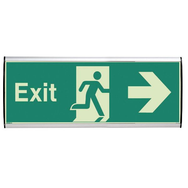 "Wall Sign 15""w x 5-7/8""h Arc Cap Silver"
