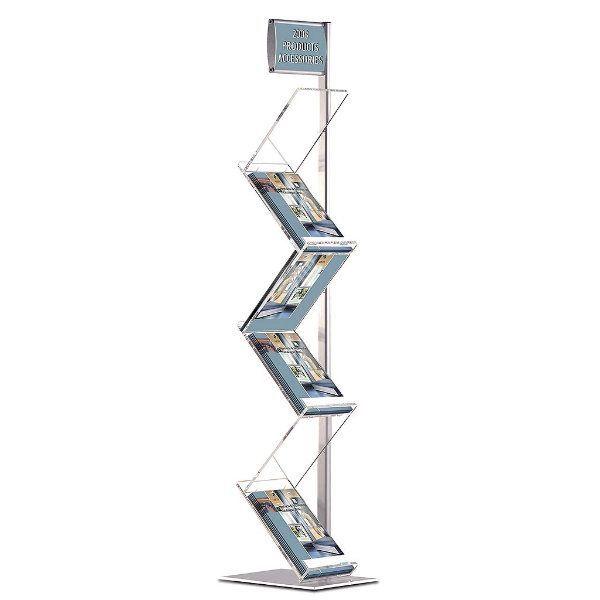 """Zig-Zag Lite 6 x (8.5"""" x 11"""") Single Pole Stand With Header"""