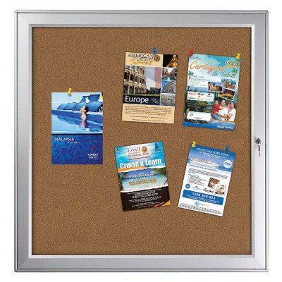 "12 x (8.5"" x 11"") Premium Enclosed Cork Bulletin Board Outdoor Use"