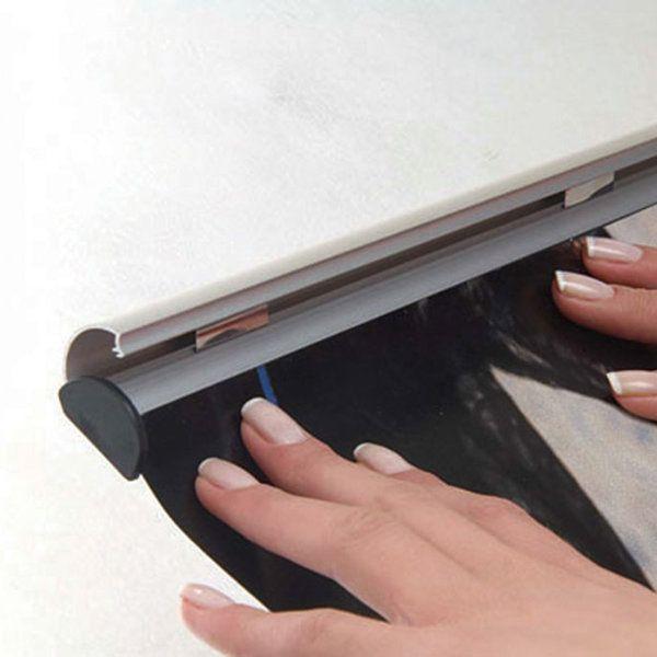"18"" Poster Snap & Hanger Set 1.02 inch Silver Aluminum Profile"