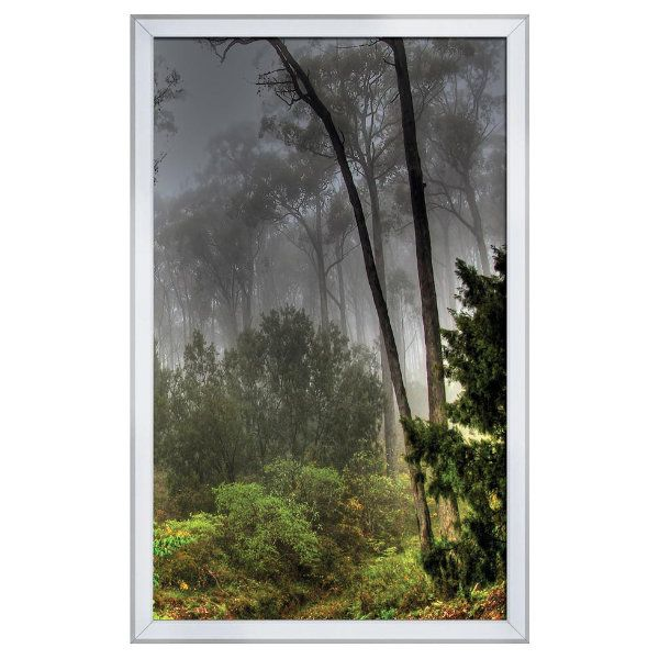 18x30 Snap Poster Frame - 0.59 inch Silver Round Profile