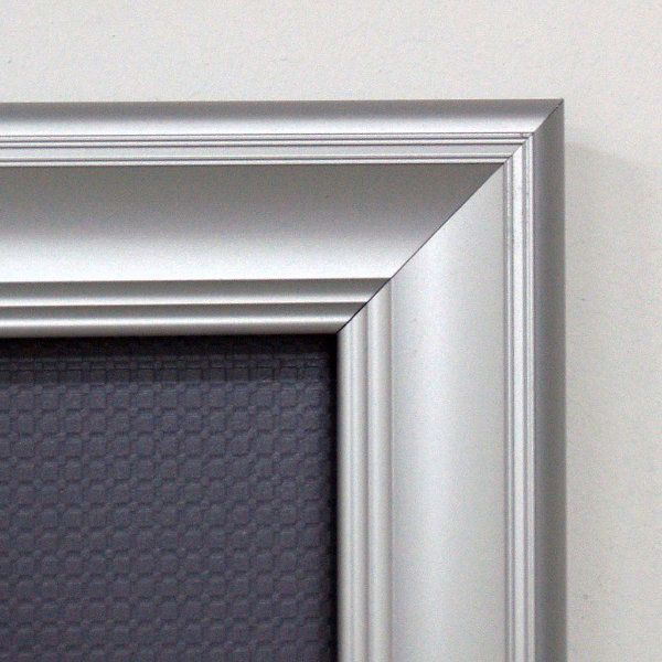 22x28 Fancy Snap Poster Frame - 1.58 inch Silver Color Mitred Profile