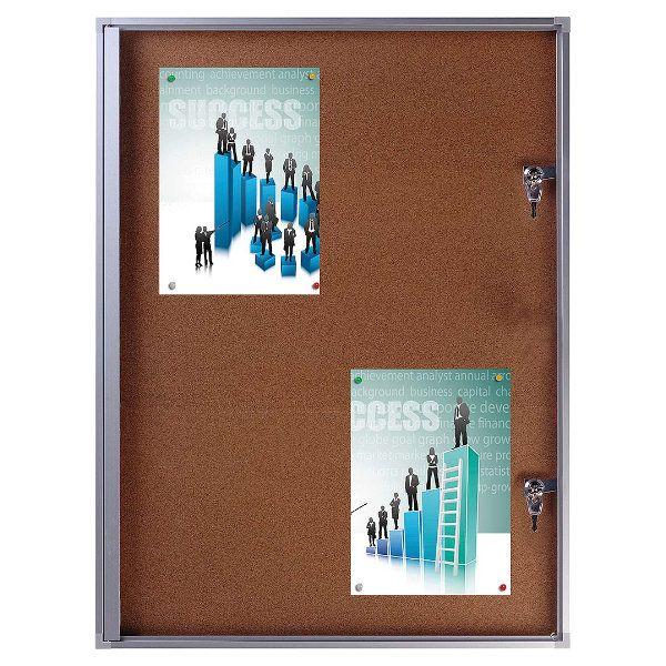 """4x(8.5"""" x 11"""") Cork Bulletin Board Aluminum Frame Indoor Use"""