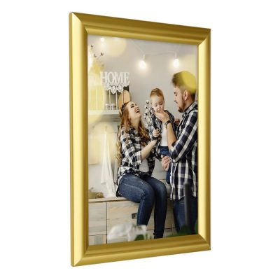 8.5x11 Snap Poster Frame - 1 inch Golden Look Profile Mitered Corner
