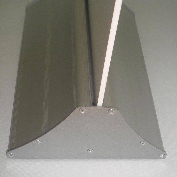 "Easy Swap 23-3/5"" Poster Width Silver Aluminium Base"
