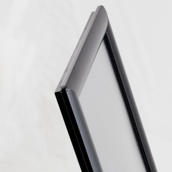 """Opti Frame 8.5"""" x 11"""" 1"""" Black Mitered Profile, Without Back Support"""