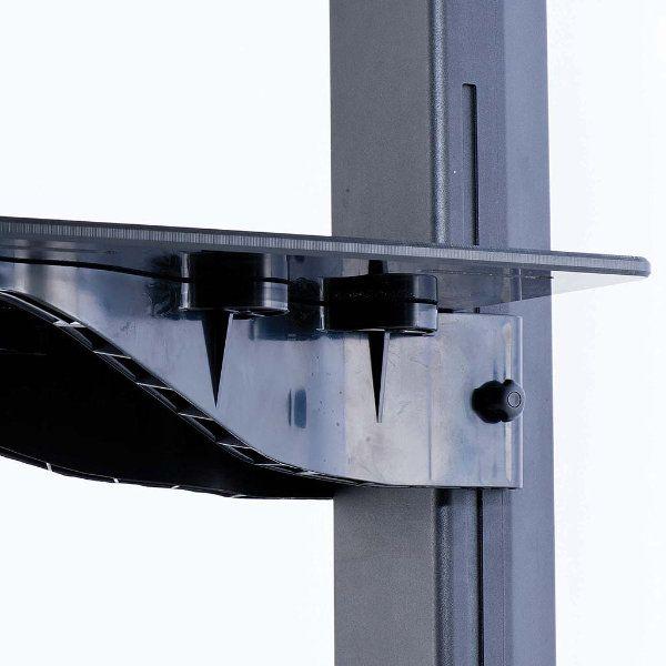 Tv Stand - Mobile Lcd Workstation Black With Black Shelf