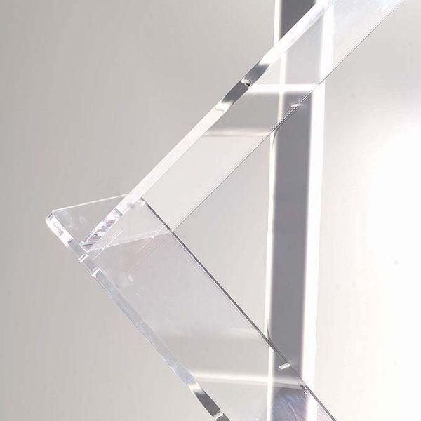 "Zig-Zag Lite Single Pole Stand 6 x (8-1/2"" x 11"") Capacity"