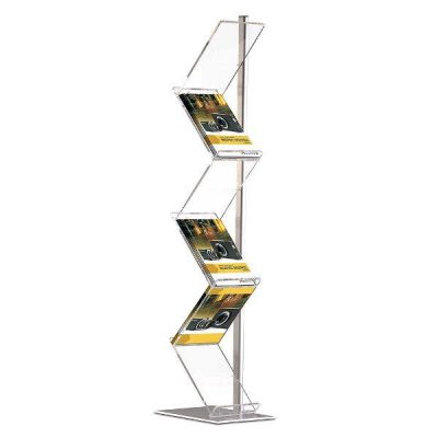 "Zig-Zag Lite Single Pole Stand 6 x (8-1/2"" x 11"") Capacity"