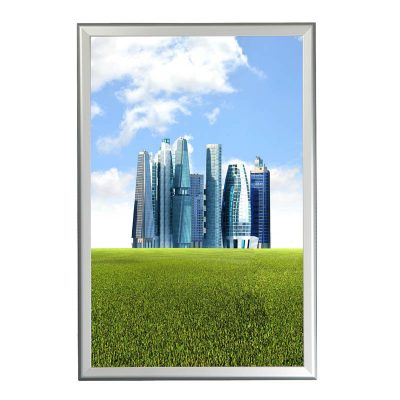 """1.25"""" Silver profile Snap  frame. Ideal for 24""""x36""""packed by 10"""