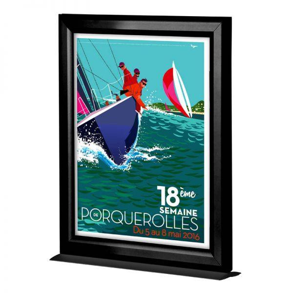 11×17 Counter Slide In Frame Black Double Sided Vertical