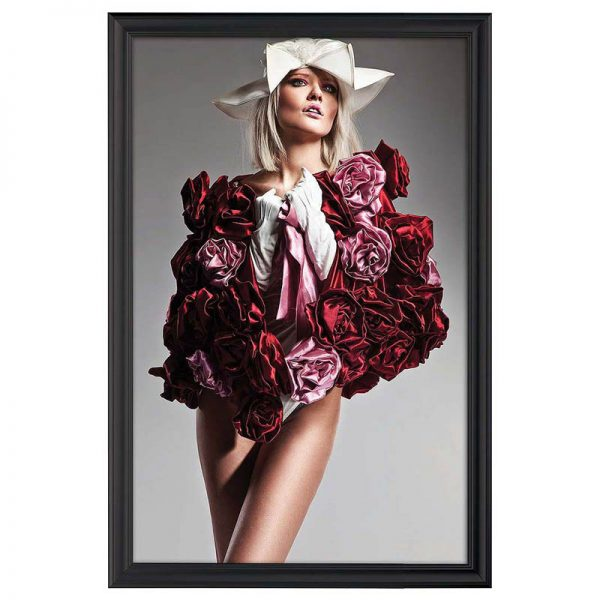 24x36 Fancy Snap Poster Frame Ral 9005