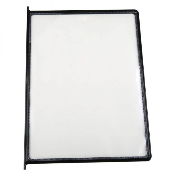 8.5x11 10 Pack Black Framed Clear Pocket