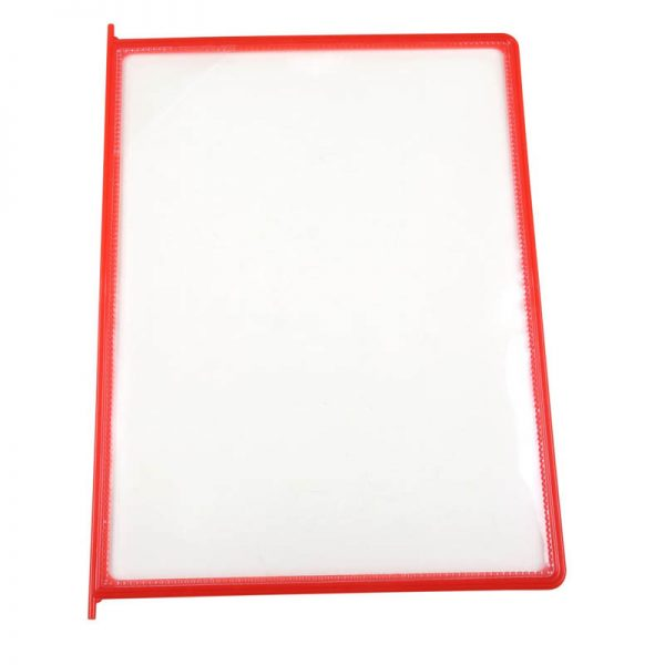 8.5x11 10 Pack Red Framed Clear Pocket