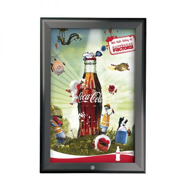 8.5x11 Snap Poster Frame - 1.25 inch Silver Mitred Profile Ral 9005