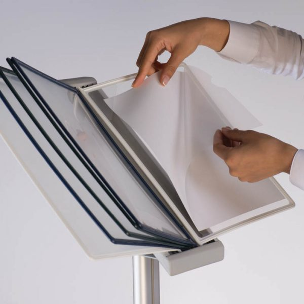 """Aluminum Stand with PET Pockets 8,5""""x11"""""""