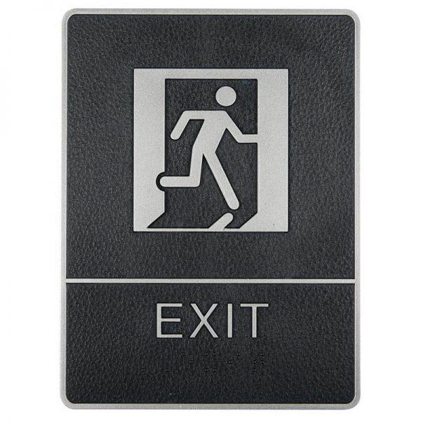 Chrome framed Braille Sig, exit