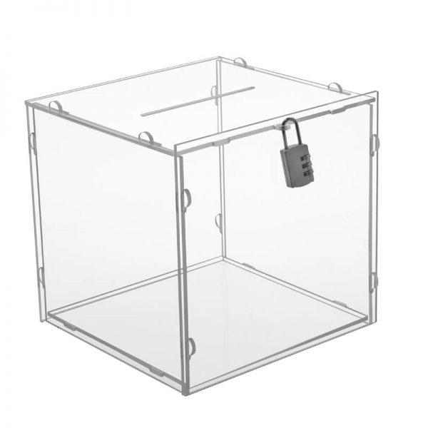 "Clear locking Puzzle Box 12"" x 12"""