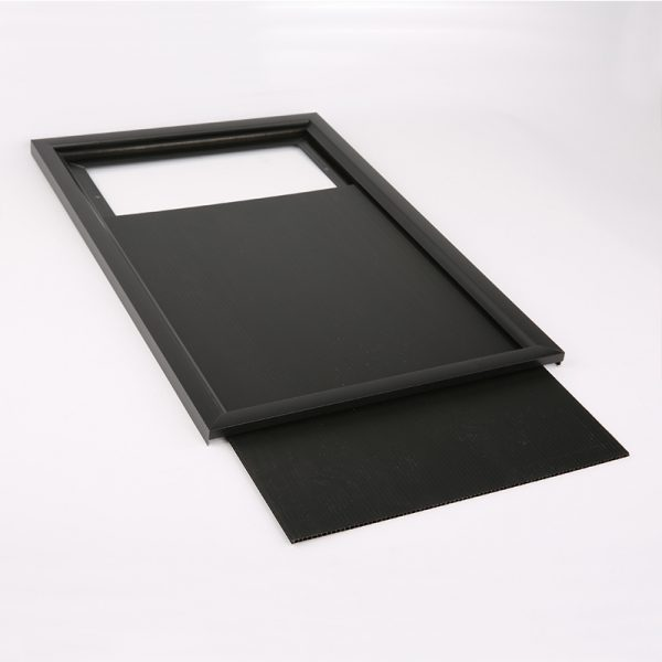 "Single Sided Black Slide in Frame 24""x36"""