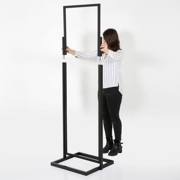 22x69 Portable Eco Infoboard Display Stand Black