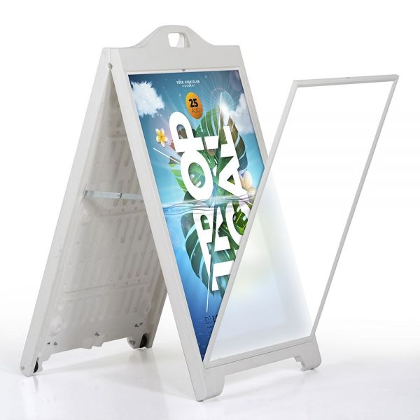 24″w x 36″h SignPro Sidewalk Sign – White With Lens