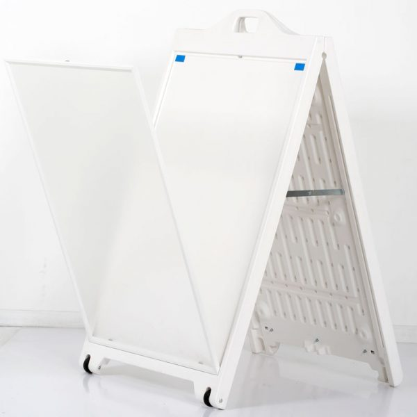 24x36 SignPro Sidewalk Sign - White with lens