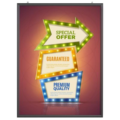 36x48 Portable Snap Poster Frame - 1 inch Black Mitred Profile