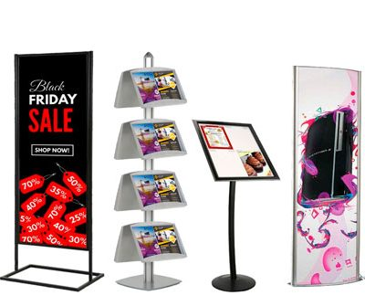 Poster Display Stands & Sign Stands
