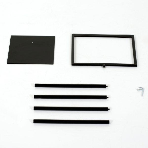 Floor-Sign-Holder-Black-Landscape-8.5x11-2